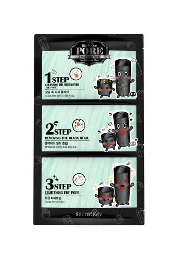 Secret Key Black Out Pore 3-Step Nose Pack - 10 pieces SE882BE72JRZSG_1