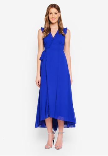Angeleye blue Ruffle Wrap Dress 14C0AAAAEC4336GS_1