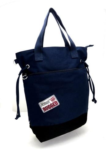 Esther Accessories navy Canvas 3 Way Tote (Handle/shoulder/backpack) --- Navy ES153AC94OJPHK_1