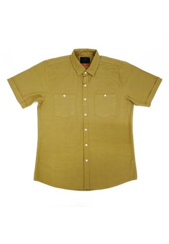 DERED brown DRED 7B0029W - Kemeja Lengan Pendek Polos 29AA6AA3E37EBEGS_1