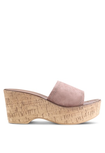 Dorothy Perkins pink Rose Rodeo Studded Wedges DO816SH62GVPMY_1