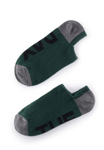 Life8 green Casual DeodorizationRight Angle Design Low Cut Week Socks -05368-Green 10F0BAAE5EC71EGS_1