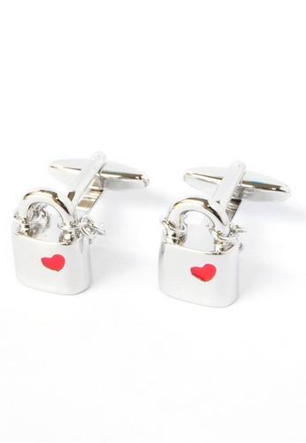 Splice Cufflinks silver Locked in Love Padlocks Cufflinks SP744AC91CPSSG_1