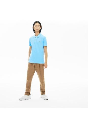 Lacoste blue Lacoste Men's Mini Pique Stretch Polo CFC46AAABE6727GS_1