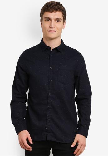 ESPRIT black Woven Long Sleeve Shirt ES374AA0S347MY_1