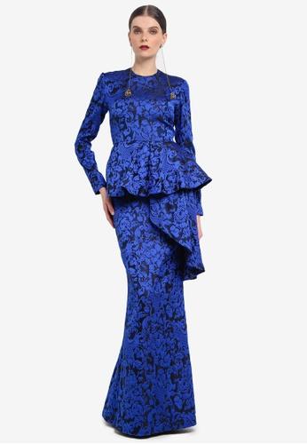 Rizalman for Zalora blue Surya Modern Kurung RI909AA0SEYBMY_1