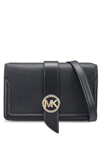 Michael Kors black Charm Medium Granular Crossbody Bag 427F8AC0127EAAGS_1