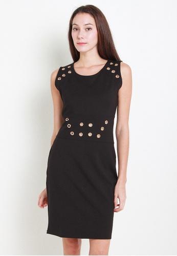 Leline Style black Kiele Dress LE802AA23EKESG_1