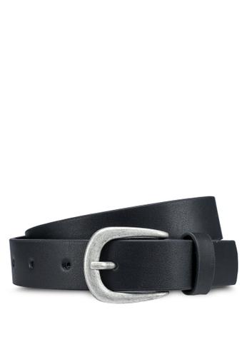 LC Waikiki black Faux Leather Belt 8E08AKCF707763GS_1