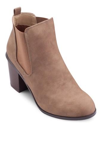 Dorian 仿皮粗跟低筒esprit tw靴, 女鞋, 鞋