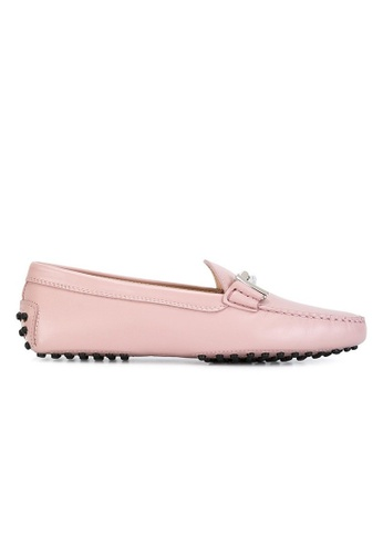 TOD'S 粉紅色 TOD'S/ 托德斯DOUBLE T樂福鞋 79519SH006D76CGS_1