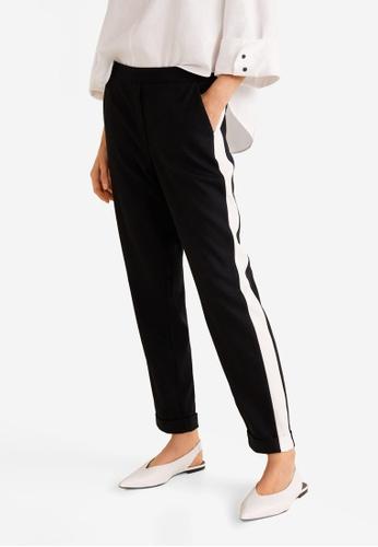 Mango black Contrasting Panels Trousers B5C86AA388BAD8GS_1