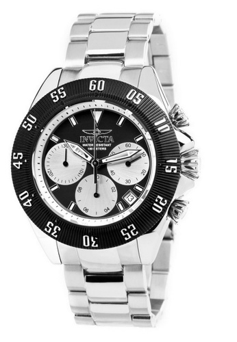INVICTA black and silver Invicta Speedway Men 48mm Case Silver Stainless Steel Strap Black, Silver Dial Quartz Watch 22396 w/ Cap IN968AC0FEYWSG_1