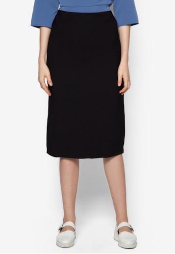 開衩及膝鉛筆裙, 服飾, 及膝esprit台灣網頁裙
