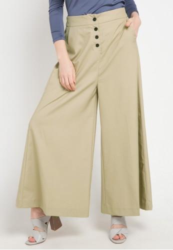 OMARA multi and brown Tiara Pants 73E81AA1DA7D28GS_1