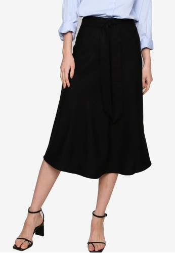 Origin by Zalora black Circular Skirt made from TENCEL™ 47FFEAA468DF65GS_1