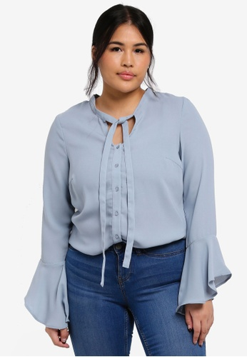 Junarose blue Plus Size Evelina Shirt 7E70CAAEE3F734GS_1