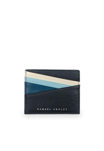 Samuel Ashley grey Bronx ID Card Holder - Storm Grey/Denim 26555AC026EF2BGS_1