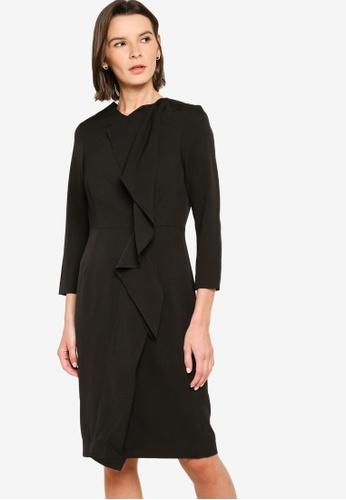 Sacoor Brothers black Women's Midi Classic Dress 6B8D3AA32CFDAFGS_1