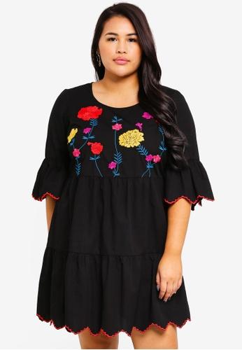 Junarose black Plus Size Heva Mini Dress 0ACAAAA9B55635GS_1