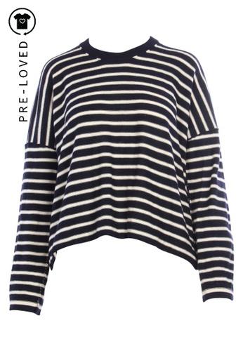 Comme Des Garçons blue Pre-Loved comme des garçons Stripes Over Size Knitted Top DBDCBAADFBC921GS_1