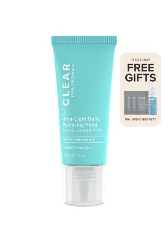 Paula's Choice blue Clear Acne Ultra-Light Daily Hydrating Fluid SPF 30+ F63B3BECE948A7GS_1