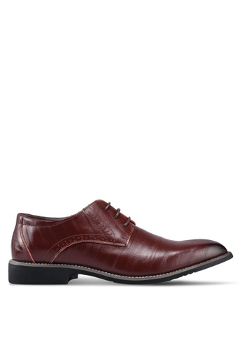 Twenty Eight Shoes brown Classic Leather Oxford Shoes 55F90SH7F47D86GS_1