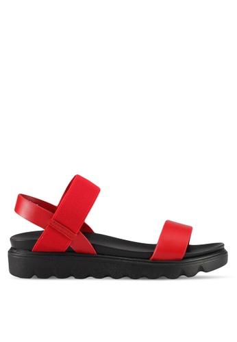 Mimosa red Casual Wedge Sandals EEA8ESH2AAA2B9GS_1