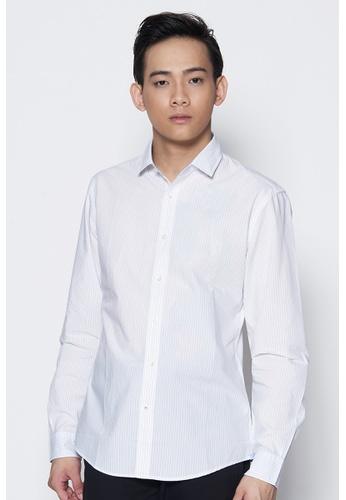 Dockers white Dockers Long Sleeve Refined Poplin Shirt Ross - White DO282AA87PZKSG_1