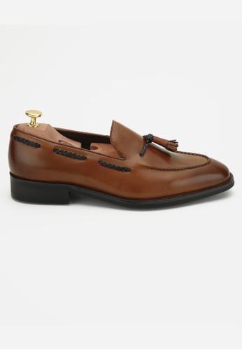 Earnest & Collective brown Berkshire II Chestnut Tassel Loafers 0E939SH08BB26FGS_1