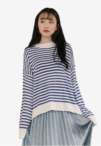5eff3e2665007 Buy Tokichoi Loose Stripe Long Sleeve Top Online on ZALORA Singapore