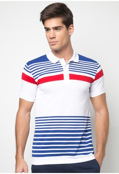 Bench Men's Striped Polo Shirt