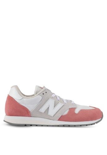New Balance grey and orange 520 70s Running Lifestyle Sneakers NE323SH0SVDIMY_1