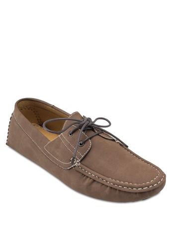 穿孔繫帶esprit 工作圓頭船型鞋, 鞋, 船型鞋