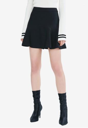 Hopeshow black High Waist Flared Short Skirt 15823AA67659D1GS_1