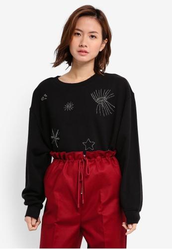 Mango black Bead Detail Sweatshirt MA193AA0T0WZMY_1
