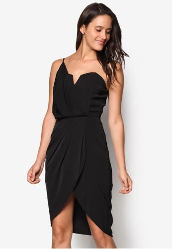 不對稱裹飾單肩洋裝esprit香港分店, 服飾, 派對洋裝