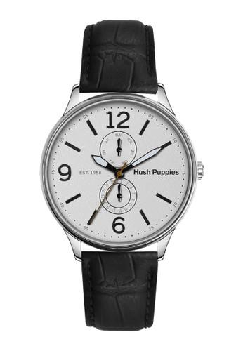 Hush Puppies Watches black Hush Puppies 1958 Men's Watch HP 7130M.2501 White Black Leather HU334AC0UHKOID_1