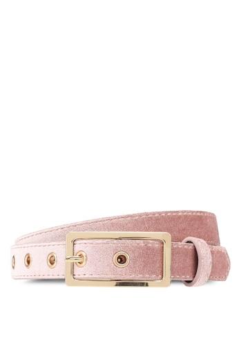 ONLY pink Bria Velvet Belt B1C68AC6057173GS_1