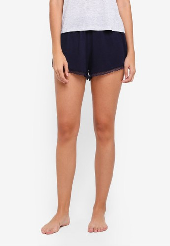 Cotton On Body navy Rib Lace Shorts E63ADAABEE8949GS_1
