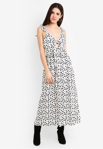 TOPSHOP white Heart Knot Maxi Dress E4FE4AAE3EFD9DGS_1