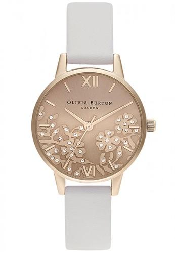Olivia Burton silver Olivia Burton Bejewlled Lace  BLUSH  Women's Watch (OB16MV102) C4D74ACE7CCDA9GS_1