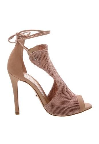 SCHUTZ pink SCHUTZ Knit Sandal - DIANA (ROSE/NEW PESSEGO) 66C62SH5D66784GS_1