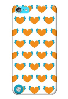 Winged Hearts Glossy Hard Case for iPod Touch 5th Gen