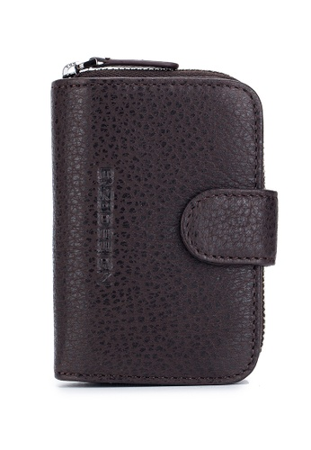 ENZODESIGN brown American Bison Leather Hand Held Leather Key Case With Zip Around Coin Case BAC85AC791E035GS_1