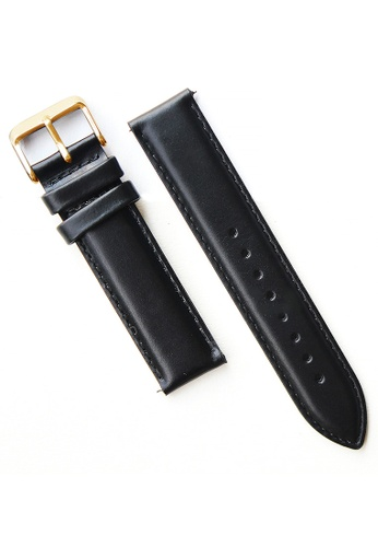 PICONO Watches black Quick Release Black Leather Strap PI771AC2VUS5HK_1
