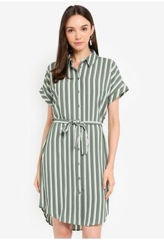 ee937e62 Vero Moda green Sasha Shirt Dress 0DC27AA8BAFA92GS_1
