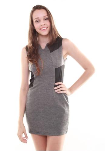 Leline Style grey Marie Elegant OL Dress LE802AA16FUTSG_1
