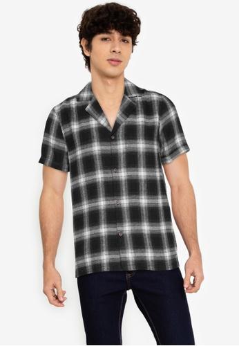 ZALORA BASICS multi Checkered Bowling Shirt 3781EAA0180FA5GS_1