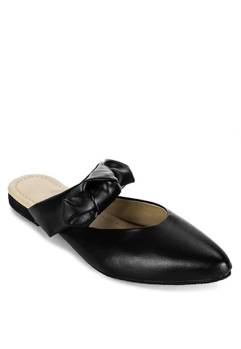 Fablook Clothing black Ribbon Slip On 41D4FSHA099404GS_1